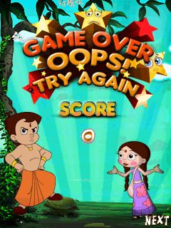 Скриншот java игры Chhota Bheem and the throne of Bali. Игровой процесс.