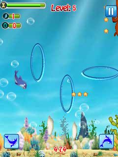 Download free mobile game: The dolphin stunt - download free games for mobile phone.