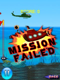 Скриншот java игры War with submarines. Игровой процесс.