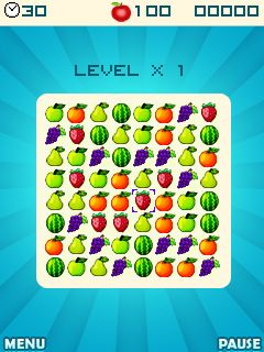 Download free game for mobile phone: Fruit crush - download mobile games for free.