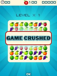 Скриншот java игры Fruit crush. Игровой процесс.