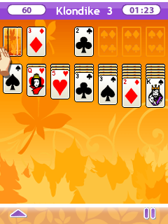 Скріншот java гри 365 Solitaire gold 2. Ігровий процес.