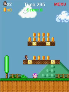 Super Mario rescue princess手机游戏- 截图。Super Mario rescue princess游戏。