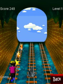Download free mobile game: Rush on rail - download free games for mobile phone.