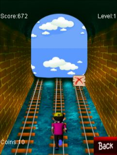 Download free game for mobile phone: Rush on rail - download mobile games for free.