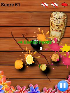 Jeu mobile Ninja: La Découpe Des Fruits - captures d'écran. Gameplay Fruit cut ninja.