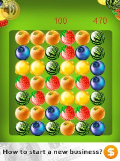 Скриншот java игры Fruit popper. Игровой процесс.