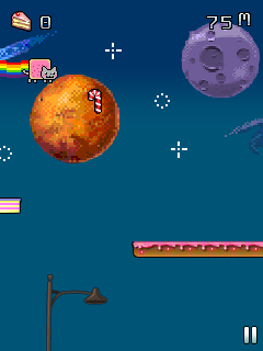 Jeu mobile Le Chat Nyan: Perdu Dans L'Espace - captures d'écran. Gameplay Nyan cat: Lost in space.