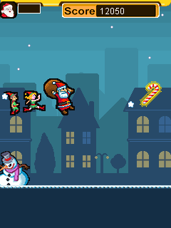 Mobile game Santa run - screenshots. Gameplay Santa run.
