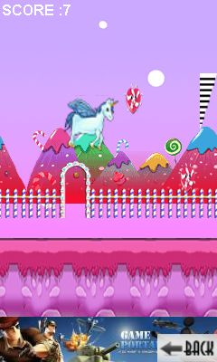 Mobile game Unicorn runner - screenshots. Gameplay Unicorn runner.