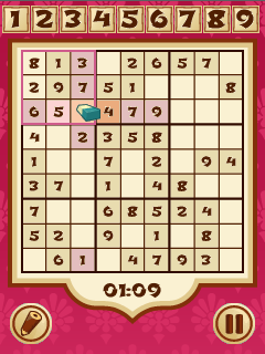 Mobile game Sudoku temple - screenshots. Gameplay Sudoku temple.