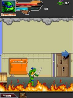 Download free game for mobile phone: TMNT: Ninja Rua - download mobile games for free.