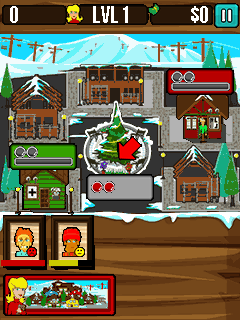 Скриншот java игры Ski resort manager. Игровой процесс.
