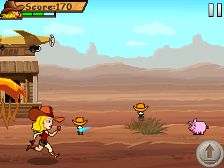 Скриншот java игры Bounty hunter: Miss Jane. Игровой процесс.