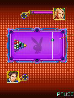 Mobil-Spiel Playboy Pool (Indiagames) - Screenshots. Spielszene Playboy pool (Indiagames).