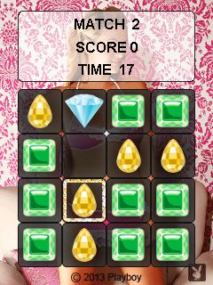 Mobile game Playboy jewels - screenshots. Gameplay Playboy jewels.