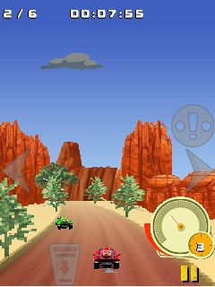 Скриншот java игры 4x4 Buggy off-road racing. Игровой процесс.