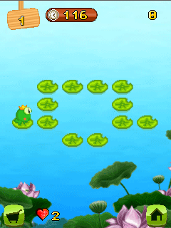 Download free game for mobile phone: Mini mint frog - download mobile games for free.