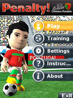 Download free mobile game: Penalty Ronaldo 3D - download free games for mobile phone.