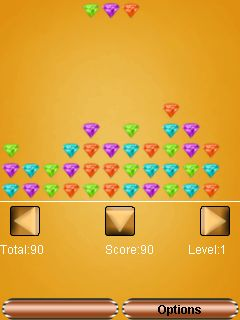 Скриншот java игры Diamonds stack. Игровой процесс.