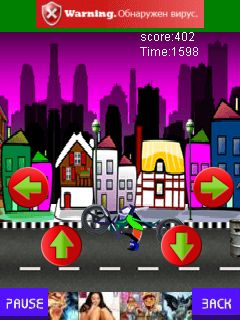 Jeu mobile Monsieur Le Motard - captures d'écran. Gameplay Mr Biker.