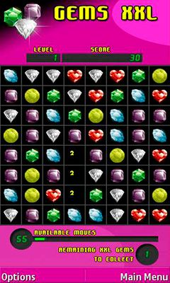 Download free game for mobile phone: Gems XXL: Supersized jewels - download mobile games for free.