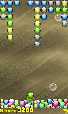 Jeu mobile Manie des boules - captures d'écran. Gameplay Ball mania by Get games.