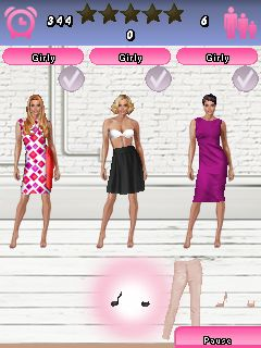 Mobil-Spiel Kiki kauft modische Klamotten - Screenshots. Spielszene Kiki's fashion picks.