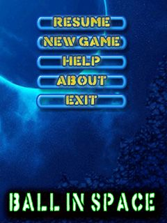 Download free mobile game: Ball in space - download free games for mobile phone.