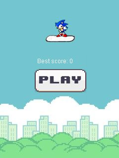 Download free mobile game: Sonic jump. Doodle jump mod - download free games for mobile phone.