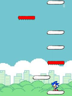 Download free game for mobile phone: Sonic jump. Doodle jump mod - download mobile games for free.