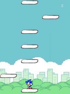 Mobile game Sonic jump. Doodle jump mod - screenshots. Gameplay Sonic jump. Doodle jump mod.