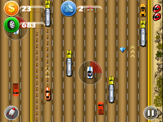 Mobile game Highway extreme racing - screenshots. Gameplay Highway extreme racing.