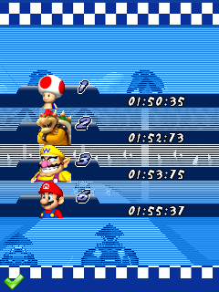 Mobile game Mario kart: Super extreme - screenshots. Gameplay Mario kart: Super extreme.