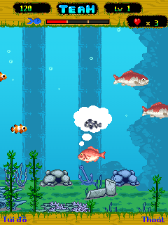 Jeu mobile Océan bleu - captures d'écran. Gameplay Blue ocean.