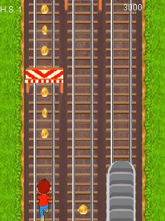 Mobil-Spiel Subway Renner - Screenshots. Spielszene Subway runner.