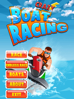 Download free mobile game: Crazy boat racing - download free games for mobile phone.