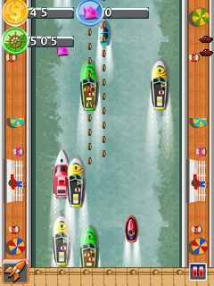 Mobile game Crazy boat racing - screenshots. Gameplay Crazy boat racing.