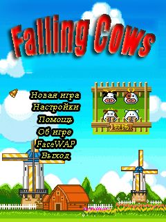 Download free mobile game: Falling сows - download free games for mobile phone.
