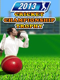 2013 cricket championship: Trophy
