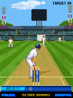 Скриншот java игры 2013 cricket championship: Trophy. Игровой процесс.