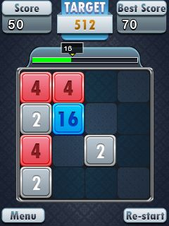 Jeu mobile 2048: Puzzle fou - captures d'écran. Gameplay 2048: Madness puzzle.