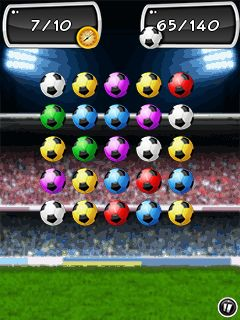 Скриншот java игры Football jewels 2014. Игровой процесс.