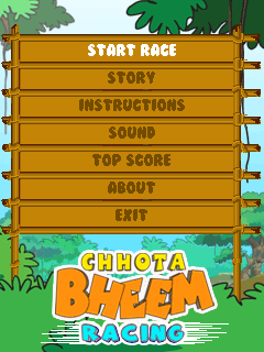 Download free game for mobile phone: Chhota Bheem: Racing - download mobile games for free.
