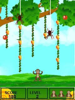 Mobile game Crazy monkey - screenshots. Gameplay Crazy monkey.