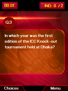 Download free game for mobile phone: Cricket quiz - download mobile games for free.