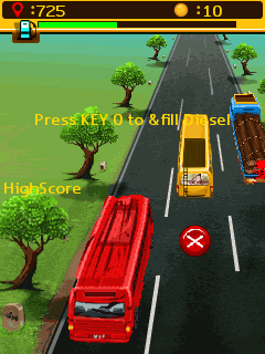 Mobil-Spiel Roter Bus Express 3D - Screenshots. Spielszene Red bus express 3D.