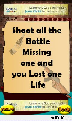 Download free game for mobile phone: Shoot the bottle - download mobile games for free.