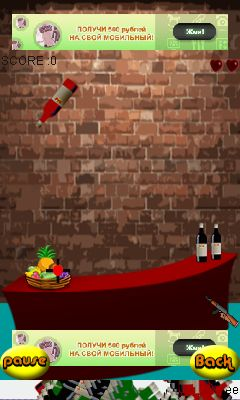 Mobile game Shoot the bottle - screenshots. Gameplay Shoot the bottle.