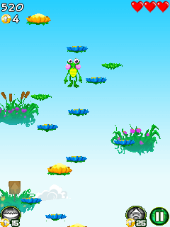 Mobile game Jump mania by Baltoro games - screenshots. Gameplay Jump mania by Baltoro games.